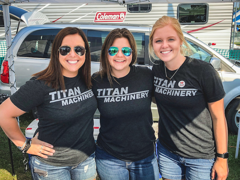 Female Business of Sales Internship students with Titan Machinery