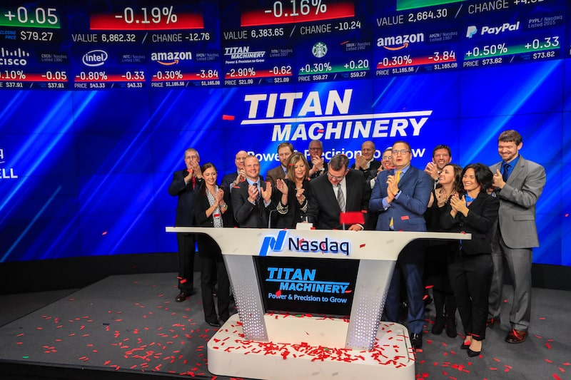 Titan Machinery executives at Nasdaq event