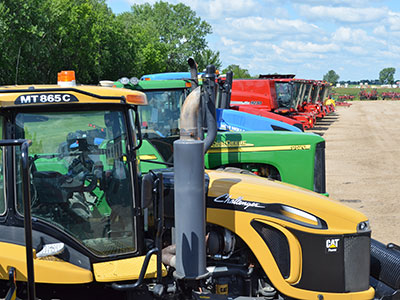 Versatile, Vermeer, John Deere, Case IH, and New Holland farm equipment