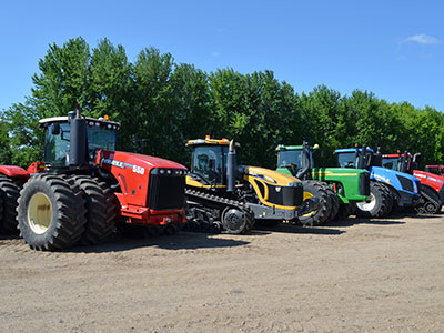 Vermeer, Caterpillar, Case IH, John Deere, and New Holland farm equipment