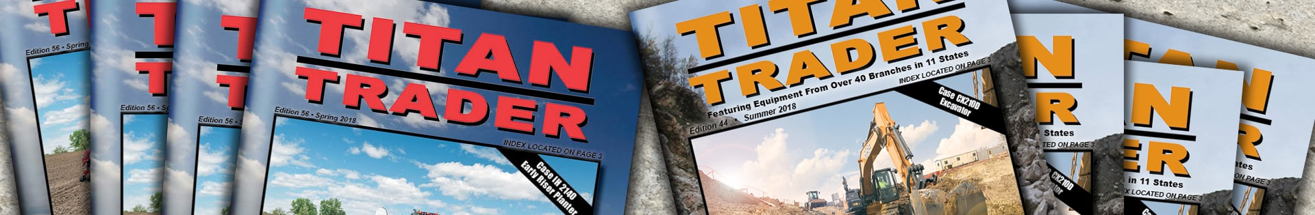 Construction Titan Trader magazines and Farm Equipment Titan Traders