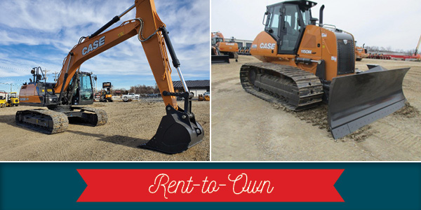 RENT-TO-OWN PROGRAM ON NEW CASE CONSTRUCTION EQUIPMENT