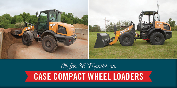 0% FOR 36-MO. ON NEW CASE MINI WHEEL LOADERS