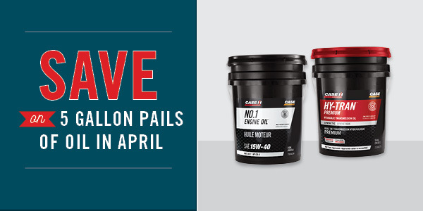 Save On 5 Gallon Pails of Oil in April