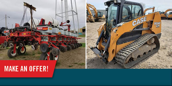 Make Us An Offer on Select Used Equipment