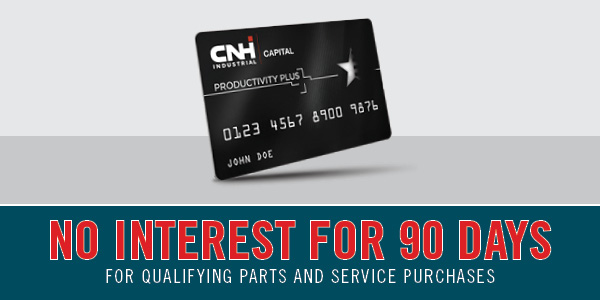 0% FOR 90 DAYS FOR QUALIFYING PARTS AND SERVICE PURCHASES