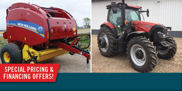 Save money on remaining new model year 2019 and older Case IH, NH and Case Construction Equipment