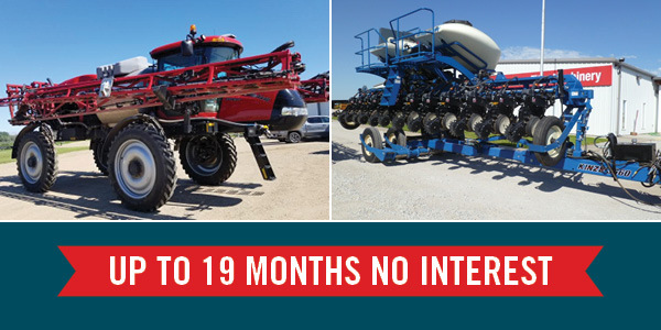No Interest Finance Offer On Used Self-Propelled Sprayers and Planters