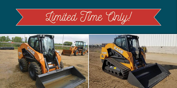 3-YR FULL FACTORY WARRANTY ON REMAINING NEW CASE ALPHA-SERIES SKID STEERS AND CTLS