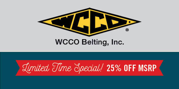 WCCO Belting - 25% Off Special
