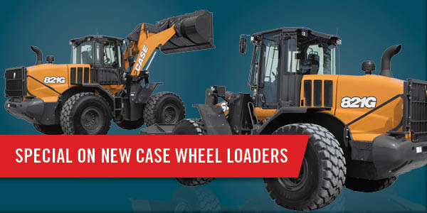 LOW LEASE PAYMENTS ON NEW 2019 CASE WHEEL LOADERS