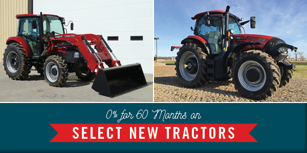 0% FOR 60-MO. ON NEW CASE IH LIVESTOCK AND UTILITY TRACTORS