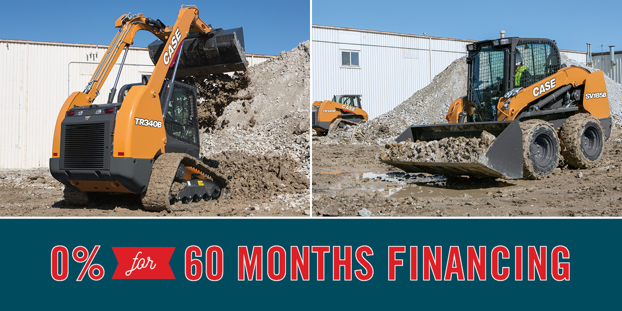 0% FOR 60-MO. ON NEW CASE SKID STEERS AND COMPACT TRACK LOADERS