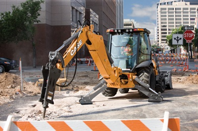 Case 580SN Backhoe - Municipality Work