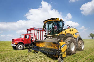 New Holland FR920 Forage Harvester in Field