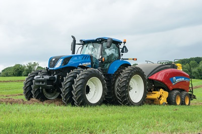New Holland T7315 Tractor with Baler